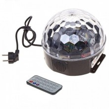 Диско шар MP3 LED Crystall Magic Ball Light с пультом