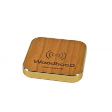 Беспроводная зарядка WoodbooD Wireless Charge Standart Gold Pro Oridginal (FS1024)