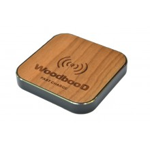 Беспроводная зарядка WoodbooD Wireless Charge Standart Black Pro Oridginal (FS1023)